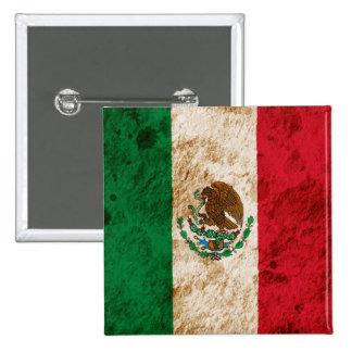 Bandera mexicana rugosa pins