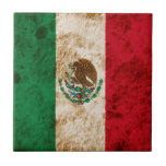 Bandera mexicana rugosa tejas  ceramicas