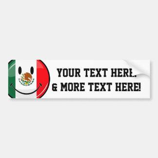 Bandera mexicana sonriente pegatina para auto