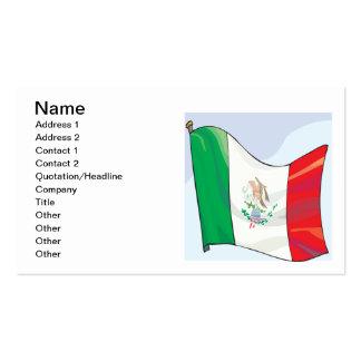Bandera mexicana plantillas de tarjetas de visita