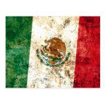 Bandera mexicana tarjeta postal