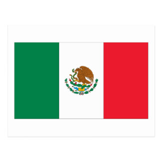 Bandera mexicana postal