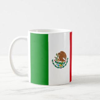 Bandera mexicana taza de café
