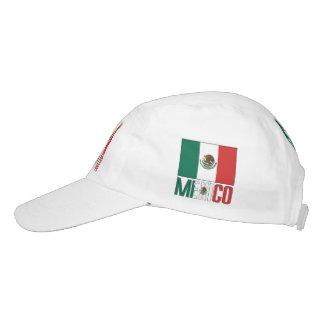 Bandera mexicana y México Gorra De Alto Rendimiento