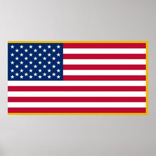Bandera militar de los E.E.U.U. Posters