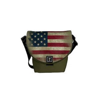 Bandera militar de Patriotc los E.E.U.U. Tierra Bolsas De Mensajeria