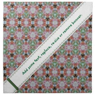 Bandera modelada colorida del ingenio de la servilleta de papel