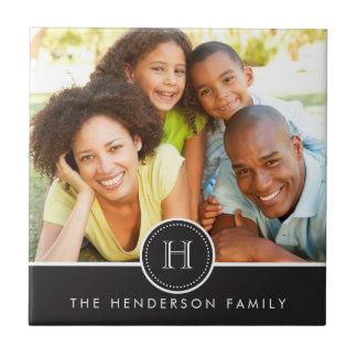 Bandera moderna con la teja de la foto de familia