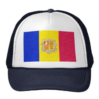 Bandera moderna de andorrano del modelo gorra