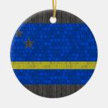 Bandera moderna de Curacaon del modelo Ornamento Para Arbol De Navidad