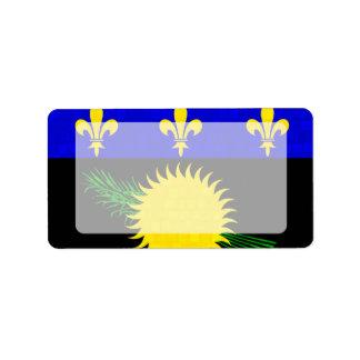 Bandera moderna de Guadeloupean del modelo Etiquetas De Dirección