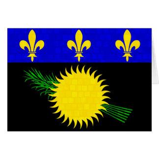 Bandera moderna de Guadeloupean del modelo Tarjeta