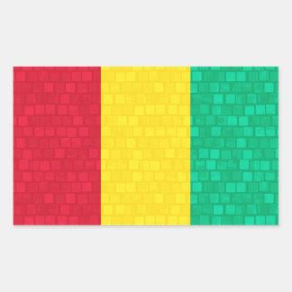 Bandera moderna de guineano del modelo pegatina rectangular