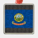Bandera moderna de Idahoan del modelo Ornamento De Navidad