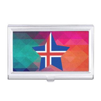 Bandera moderna de Islandia Cajas De Tarjetas De Presentación