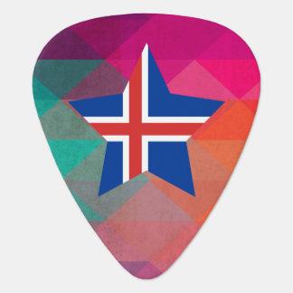 Bandera moderna de Islandia Plectro