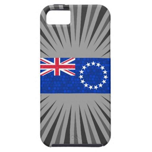 Bandera moderna de la isla de cocinero del modelo iPhone 5 funda
