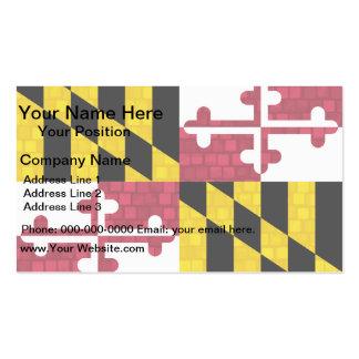 Bandera moderna de Marylander del modelo Tarjetas De Visita