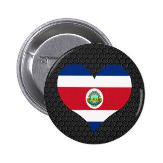 Bandera moderna de Rican de la costa Pin Redondo 5 Cm
