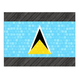 Bandera moderna de santalucense del modelo tarjetas postales