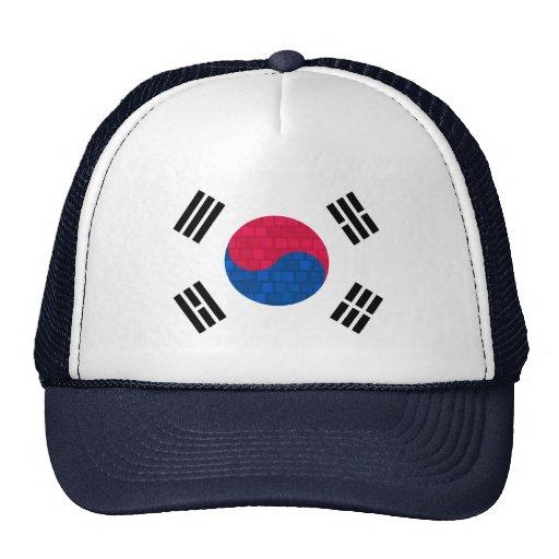 Bandera moderna de sudcoreano del modelo gorros