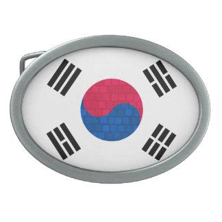 Bandera moderna de sudcoreano del modelo hebillas cinturón ovales