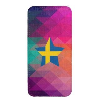 Bandera moderna de Suecia Bolsillo Para iPhone