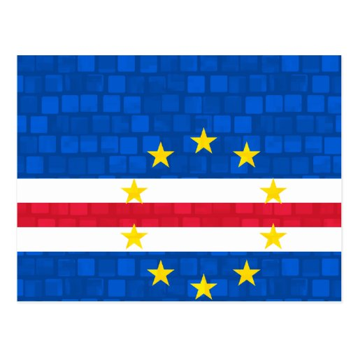 Bandera moderna de Verdian del cabo del modelo Postal