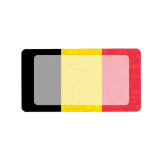 Bandera moderna del belga del modelo etiqueta de dirección