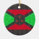 Bandera moderna del Burundian del modelo Adornos De Navidad