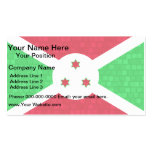 Bandera moderna del Burundian del modelo Plantilla De Tarjeta Personal