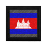 Bandera moderna del camboyano del modelo caja de joyas