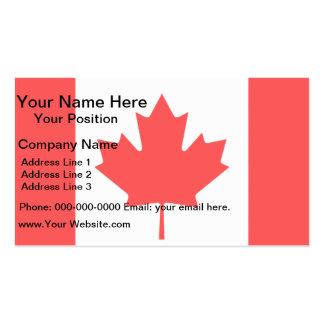 Bandera moderna del canadiense del modelo tarjetas de visita