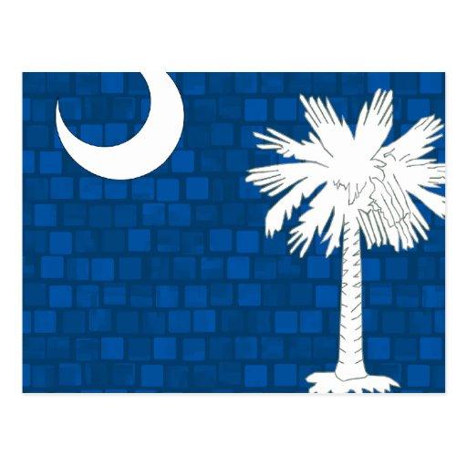 Bandera moderna del Carolinian del sur del modelo Postales