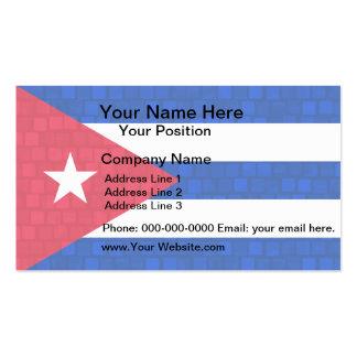 Bandera moderna del cubano del modelo tarjetas de visita