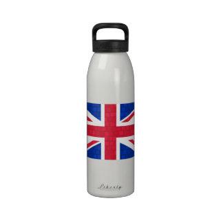 Bandera moderna del inglés del modelo botellas de agua reutilizables