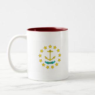 Bandera moderna del isleño de Rhode del modelo Tazas De Café