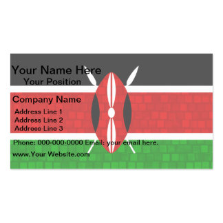 Bandera moderna del Kenyan del modelo Tarjeta De Visita