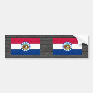 Bandera moderna del Missourian del modelo Etiqueta De Parachoque