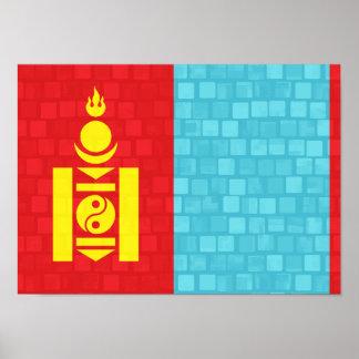 Bandera moderna del Mongolian del modelo Impresiones