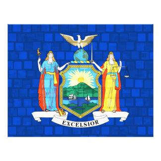 Bandera moderna del neoyorquino del modelo tarjeton