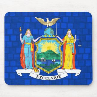Bandera moderna del neoyorquino del modelo alfombrilla de ratón