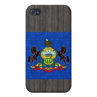 Bandera moderna del Pennsylvanian de Pern iPhone 4 Carcasas