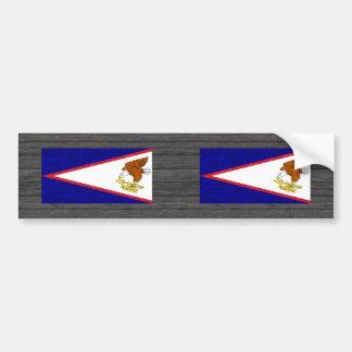 Bandera moderna del samoano del modelo pegatina para auto