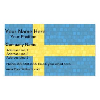 Bandera moderna del sueco del modelo plantilla de tarjeta de negocio