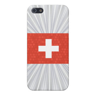 Bandera moderna del suizo de Pern iPhone 5 Carcasas