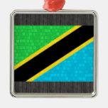 Bandera moderna del tanzano del modelo ornamente de reyes