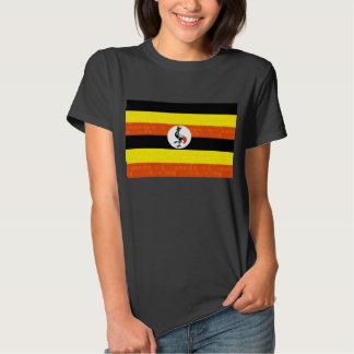 Bandera moderna del Ugandan del modelo Poleras