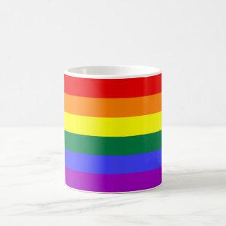 Bandera Mog del arco iris Taza Básica Blanca