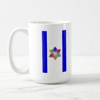 Bandera molecular taza de café